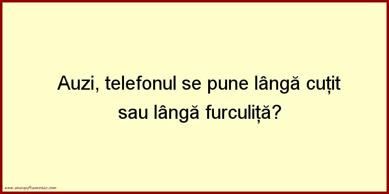 Mesaje amuzante - Unde se pune telefonul?