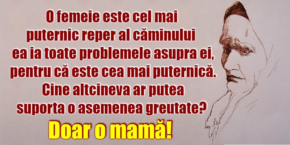 Mesaje frumoase despre familie - Doar o mamă!