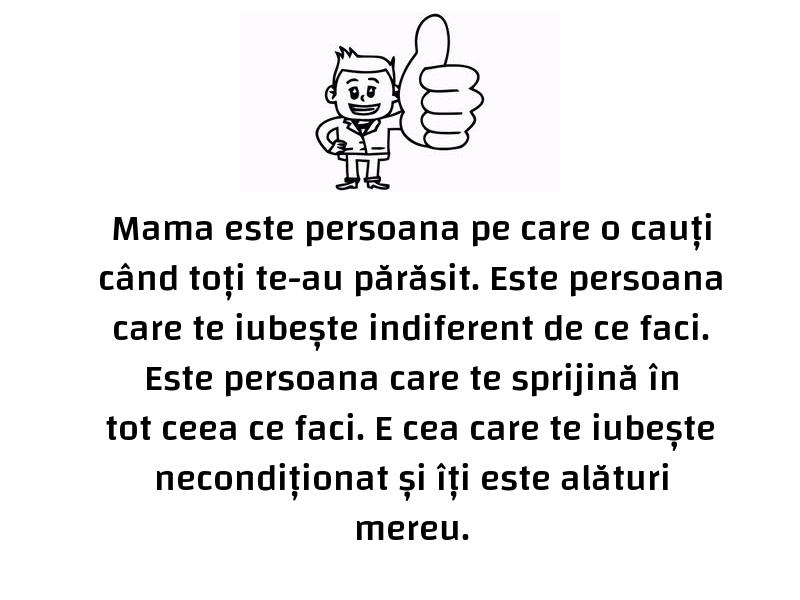 Mesaje frumoase despre familie - Mama este persoana pe care o cauți când toți te-au părăsit