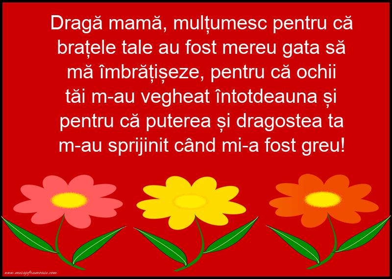 Mesaje frumoase despre familie - Dragă mamă, mulțumesc!