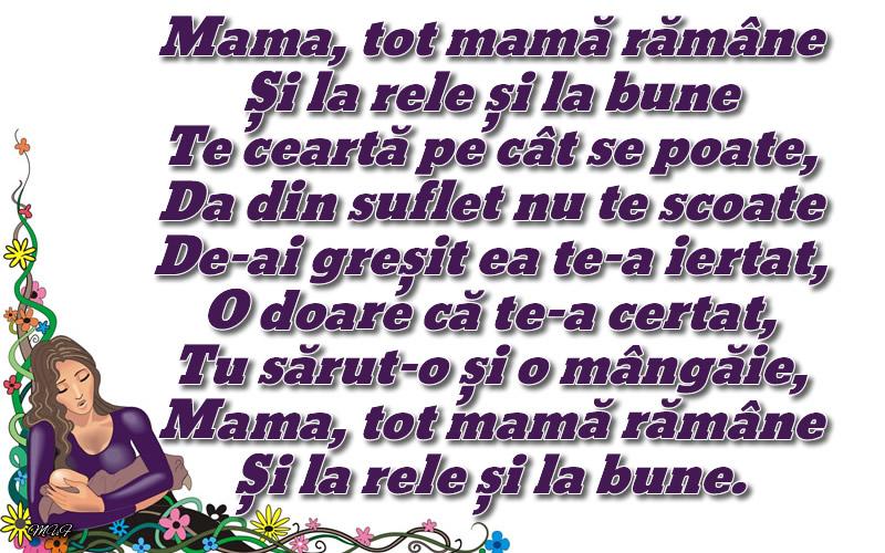 Mesaje frumoase despre familie - Mama, tot mamă rămâne ... Și la rele și la bune