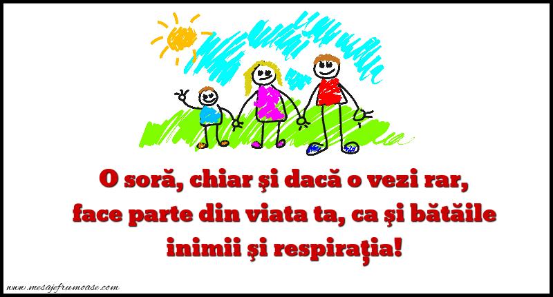 Mesaje frumoase despre familie - O soră