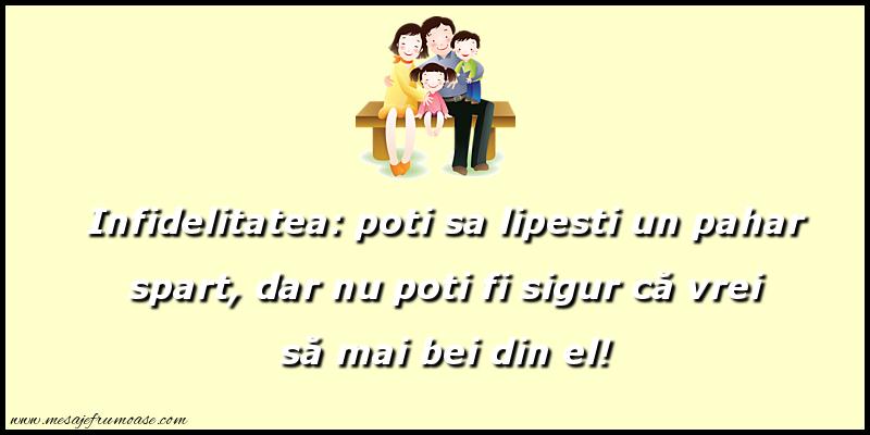 Mesaje frumoase despre familie - Infidelitatea