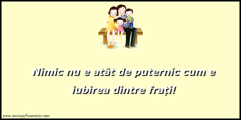 Mesaje frumoase despre familie - Nimic nu e atat de puternic