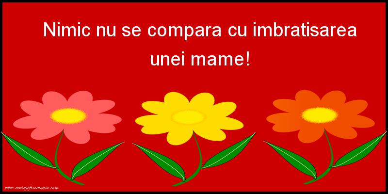 Mesaje frumoase despre familie - Nimic nu se compara cu imbratisarea unei mame!