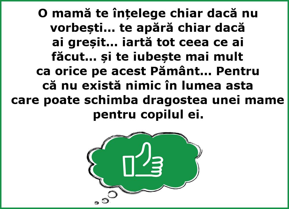 Mesaje frumoase despre familie - O mamă te înțelege chiar dacă nu vorbești...