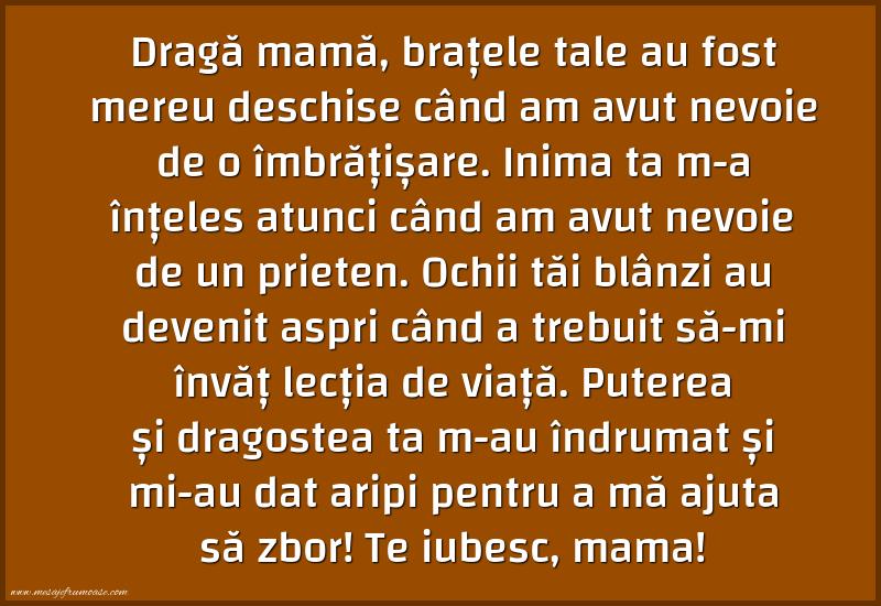 Mesaje frumoase despre familie - Te iubesc, mama!