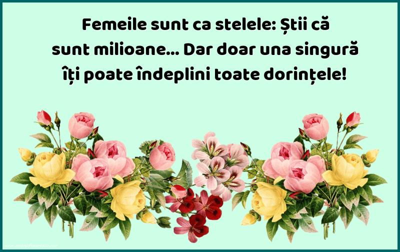 Mesaje frumoase despre femei - Femeile sunt ca stelele