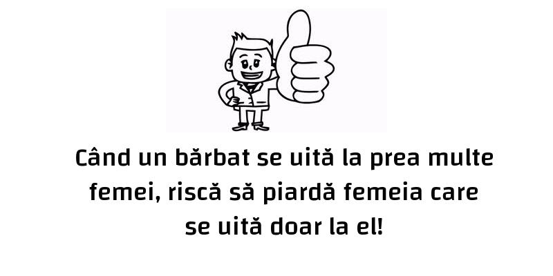 Mesaje frumoase fericire - Când un bărbat se uită la prea multe femei