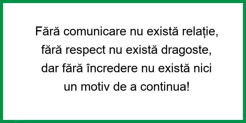 Mesaje frumoase despre iubire - Fără comunicare nu există relație, fără respect nu există dragoste...