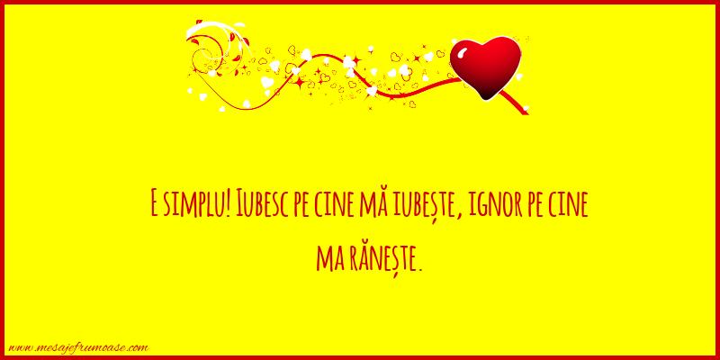 Mesaje frumoase despre iubire - E simplu!