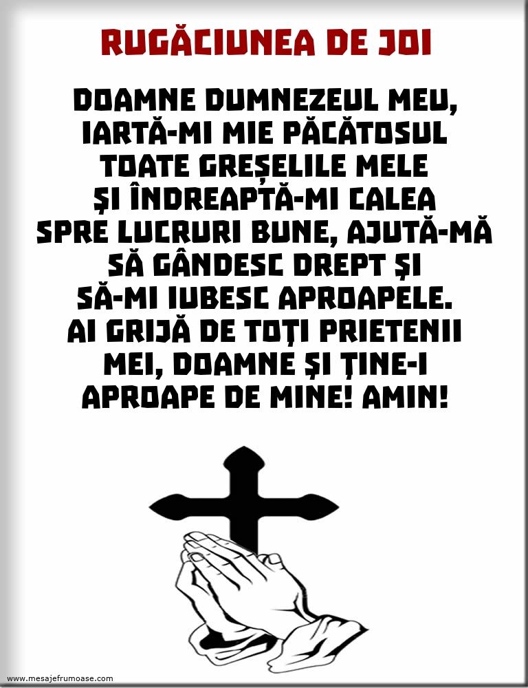 Rugăciunea de Joi: Doamne Dumnezeul meu, iartă-mi mie păcătosul toate greșelile mele...