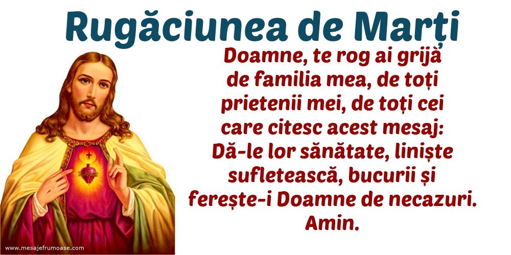Rugăciunea de Marți: Doamne, te rog ai grijă de familia mea