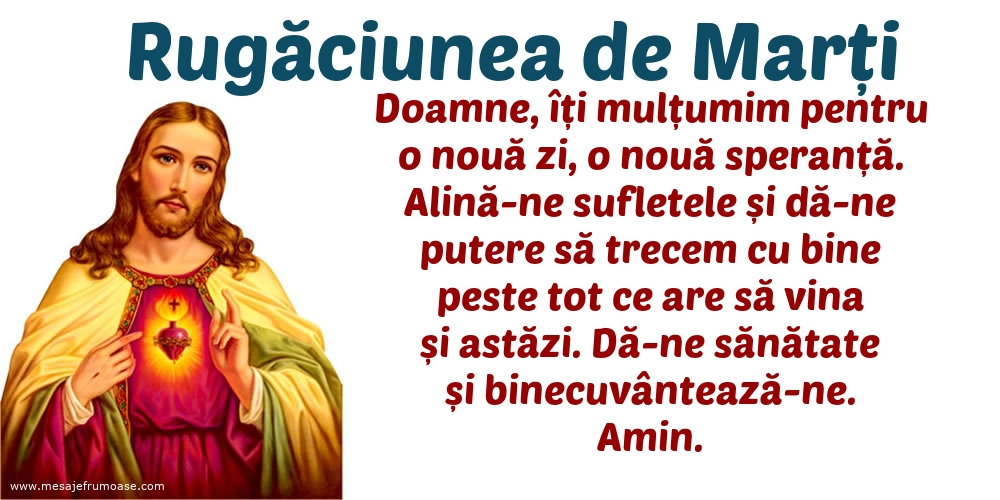Rugăciunea de Marți: Doamne, îți mulțumim pentru o nouă zi, o nouă speranță.
