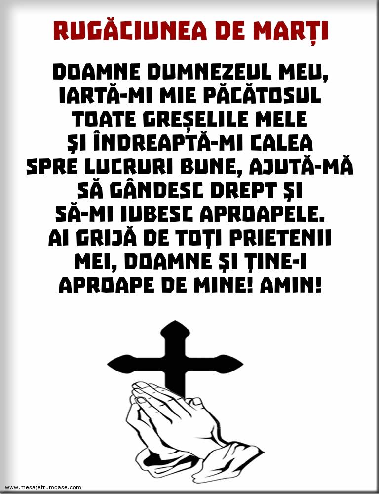 Rugăciunea de Marți: Doamne Dumnezeul meu, iartă-mi mie păcătosul toate greșelile mele...