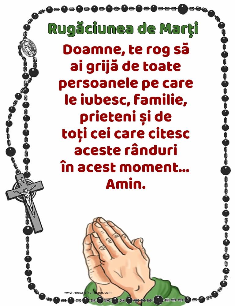 Rugăciunea de Marți: Doamne, te rog să ai grijă de toate persoanele