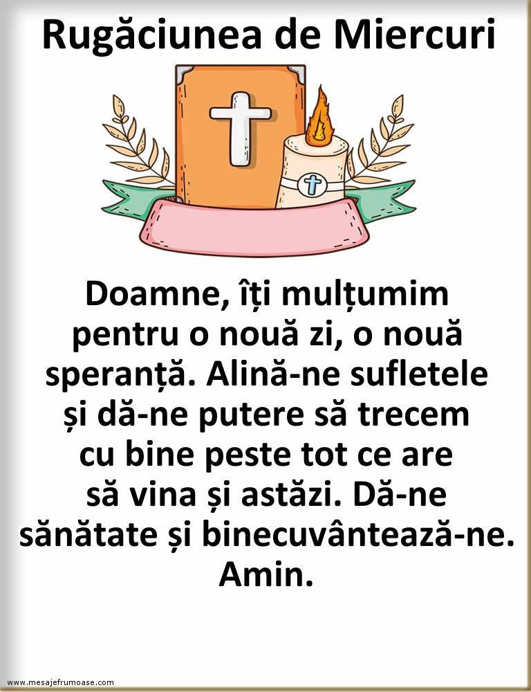 Rugăciunea de Miercuri: Mulţumesc, Doamne!