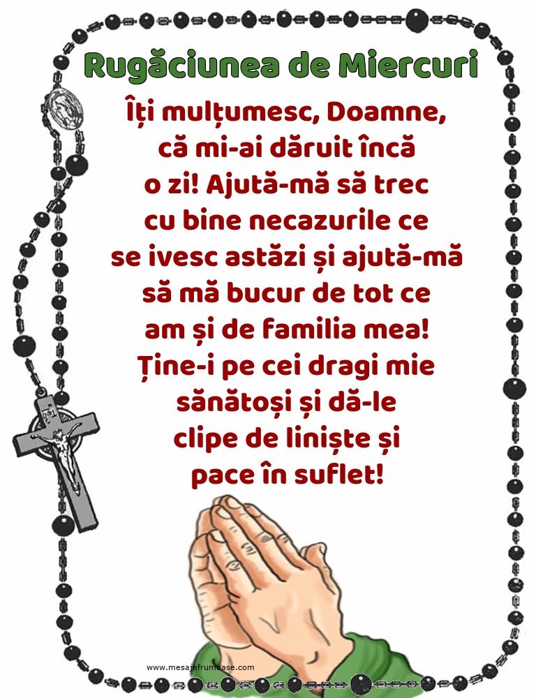 Rugăciunea de Miercuri: Îți mulțumesc, Doamne, că mi-ai dăruit încă o zi!