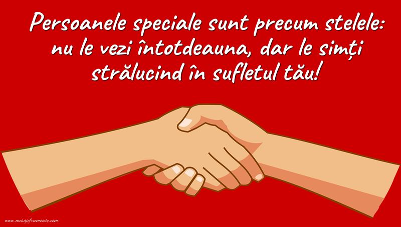 Mesaje frumoase despre prietenie - Persoanele speciale sunt precum stelele