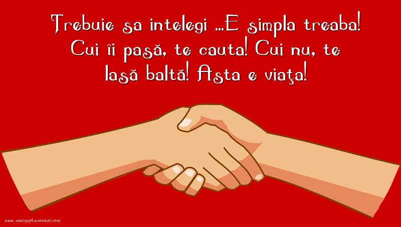 Mesaje frumoase despre prietenie - Trebuie sa intelegi