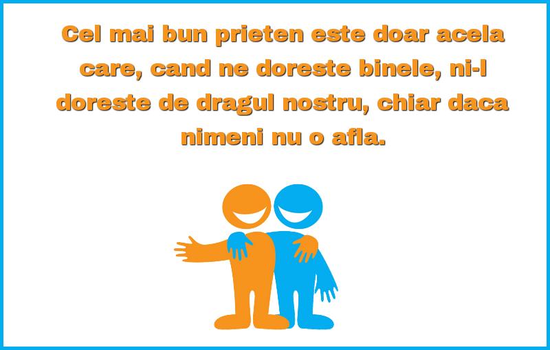 Mesaje frumoase despre prietenie - Cel mai bun prieten este doar acela care, cand ne doreste binele
