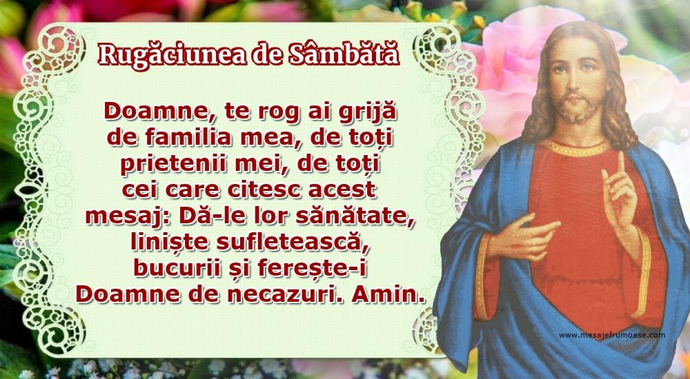 Rugăciunea de Sâmbătă: Doamne, te rog ai grijă de familia mea