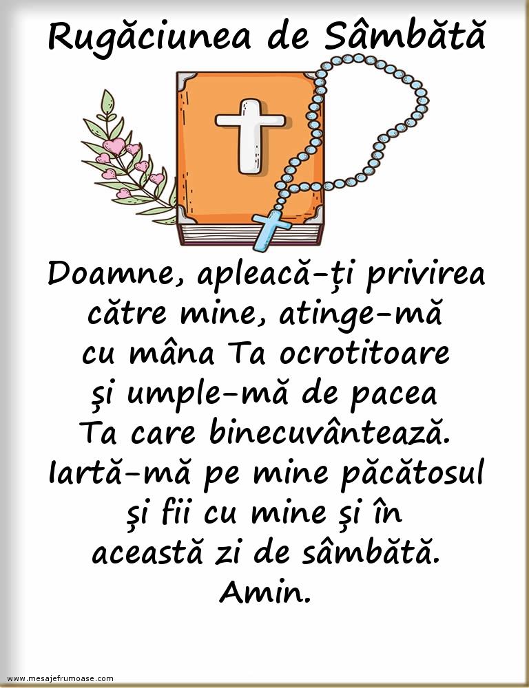 Rugăciunea de Sâmbătă: Îți mulțumesc, Doamne, că mi-ai dăruit încă o zi!