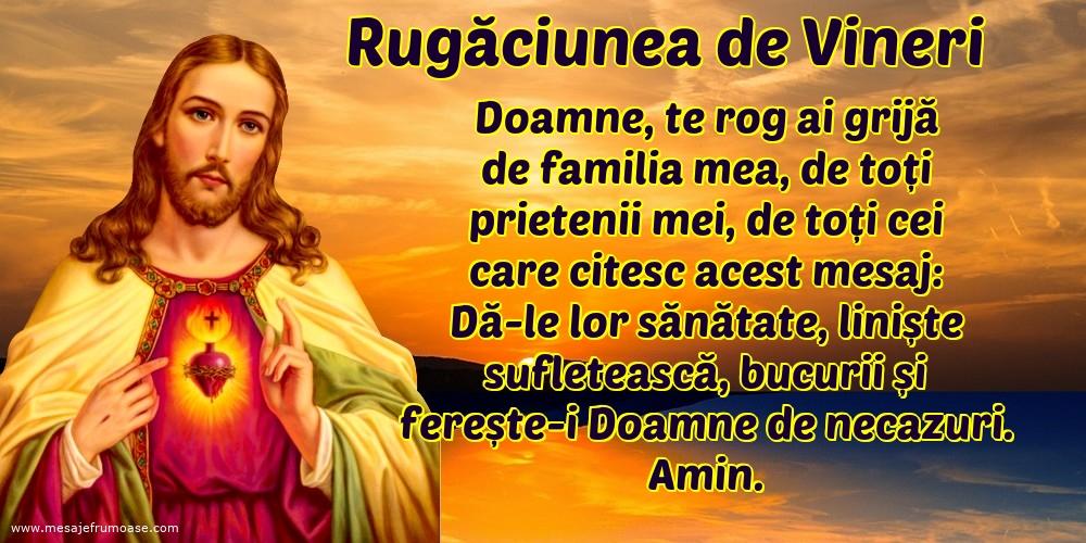 Rugăciunea de Vineri: Doamne, te rog ai grijă de familia mea