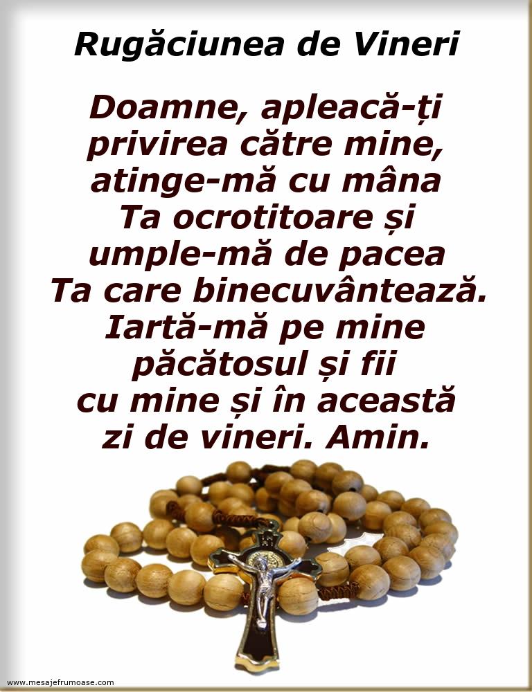 Rugăciunea de Vineri: Doamne, apleacă-ți privirea către mine