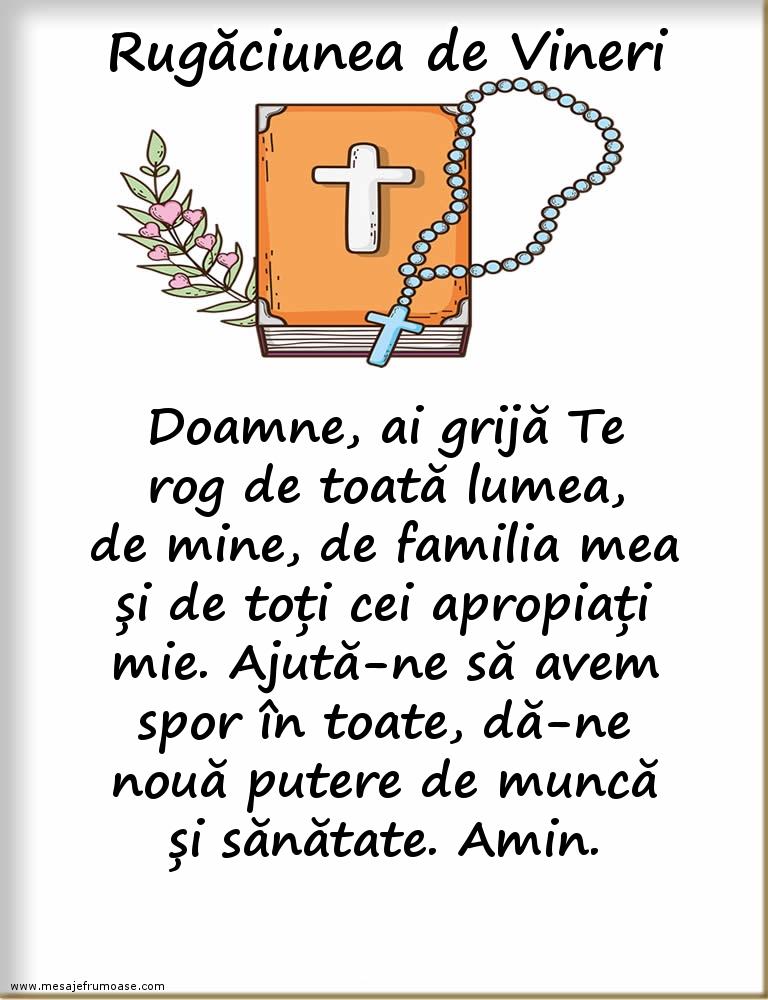 Rugăciunea de Vineri: Doamne, Tu cu mila Ta cea mare