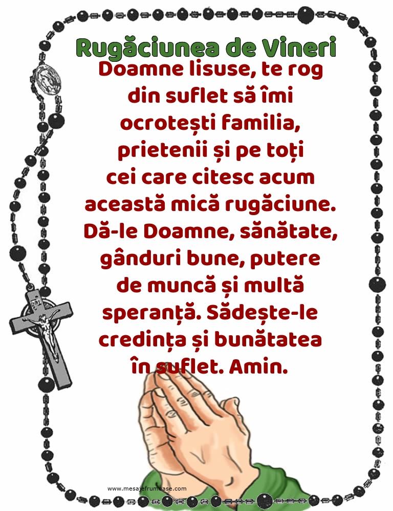 Rugăciunea de Vineri: Doamne lisuse, te rog din suflet
